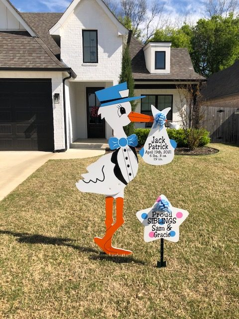Blue Stork Sign : Stork Rental in NW Oklahoma City, The Village, Nichols Hills, Edmond, Yukon, Piedmont, Bethany, Arcadia